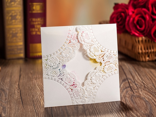 Pure Wedding Invitation Cards (20 Pieces One Set)