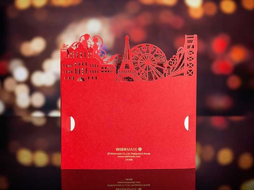 Unique Red Invitation Cards (20 Pieces One Set)