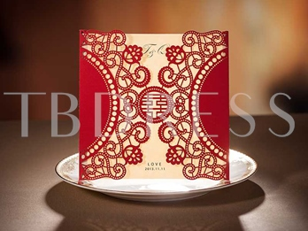 Chinese Chic Hollow-Out Invitation Cards (20 Pieces One Set)