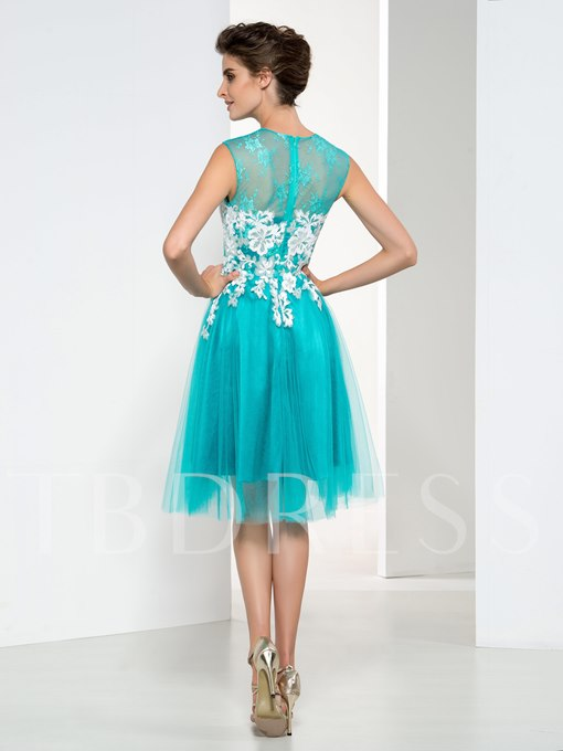 Cowl Neck Sleeveless Appliques Short Cocktail Dress