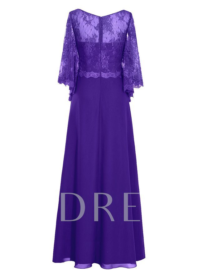 Lace Plus Size Mother of the Bride Dress with Sleeves
