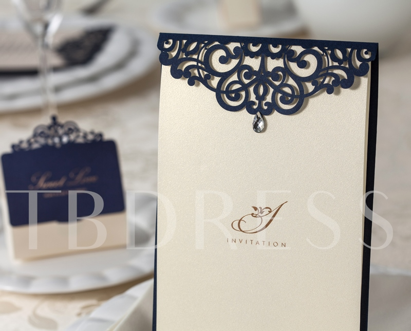 Hollow-Out Wedding Invitation Cards (20 Pieces One Set)