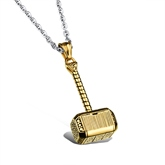 Hammer Shaped Silver Plated Overgild African Men's Necklace