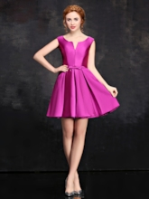 A-Line Bowknot Short Cocktail Dress