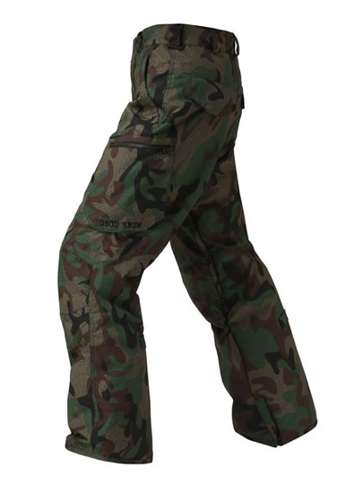 Camouflage Warm Windproof Waterproof Men's Ski Pants