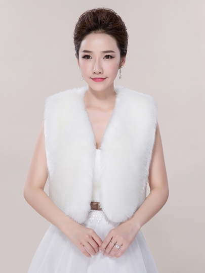 Faux Fur Wedding Jacket/Wrap