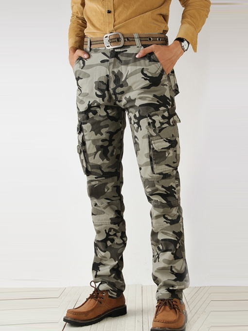 Men's Plus Size Middle Waist Camouflage Casual Pants