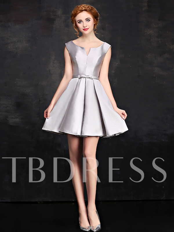 Image of A-Line Bowknot Short Cocktail Dress