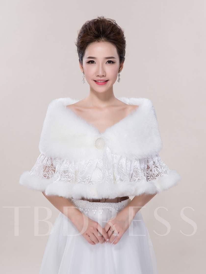 Warm Lace Faux Fur Wedding Jacket Sold Out