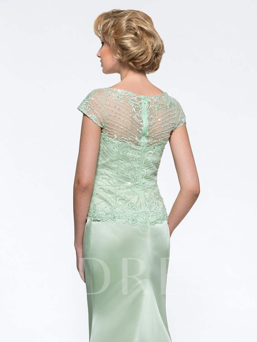 Beaded Lace Mermaid Mother of the Groom Dress