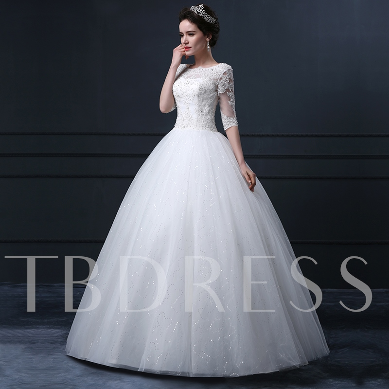 Sleeves Ball Gown Wedding Dress Sold Out