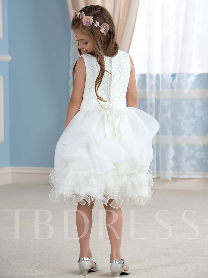 Knee-Length Ball Gown Flower Girl Dress