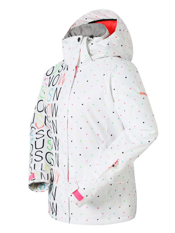 Spots Waterproof Windproof Breathable Women's Ski Jacket