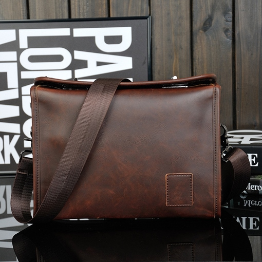 Casual Double Latch Men's Shoulder Bag