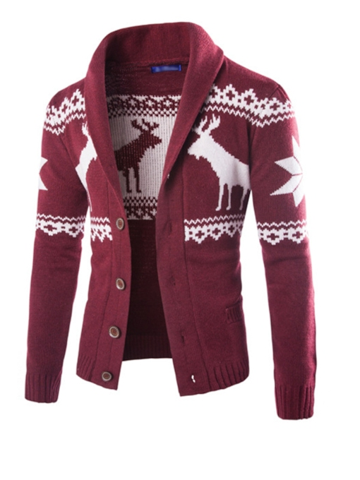 Ugly Christmas Slim Cardigan Men's Sweater