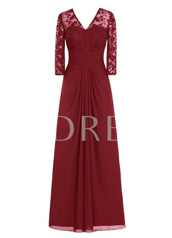 Lace Mother of the Bride Dress with Sleeves