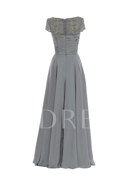 Beading Floor-Length A-Line Mother of the Bride Dress