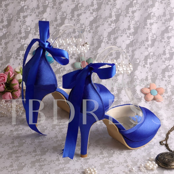 Pearls Ankle Straps Fancy Heels Bridal's Dress Sandals For Wedding