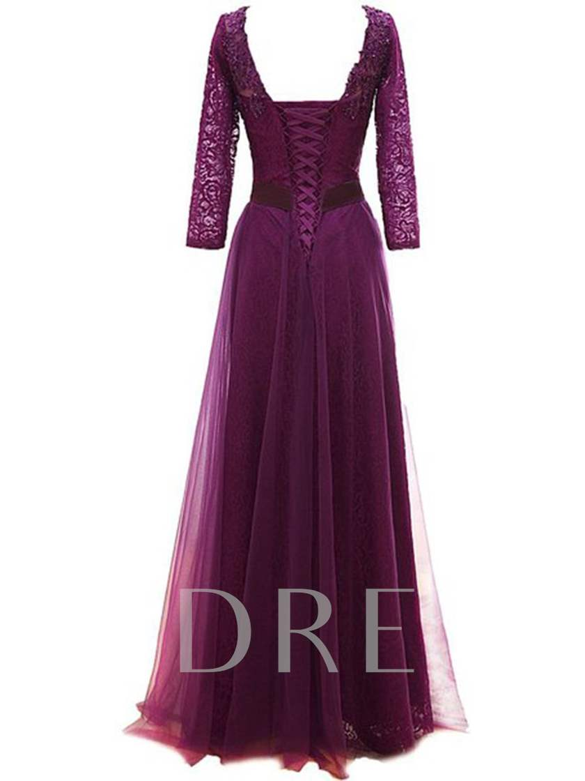 Beading Lace Long Sleeve Mother of the Bride Dress