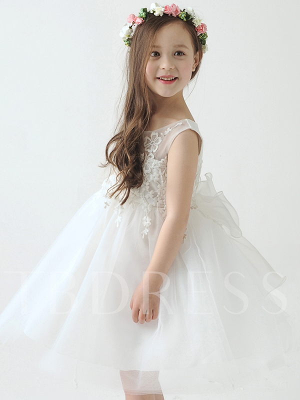 Empire Waist Ball Gown Knee-Length Flower Girl Dress - Tbdress.com