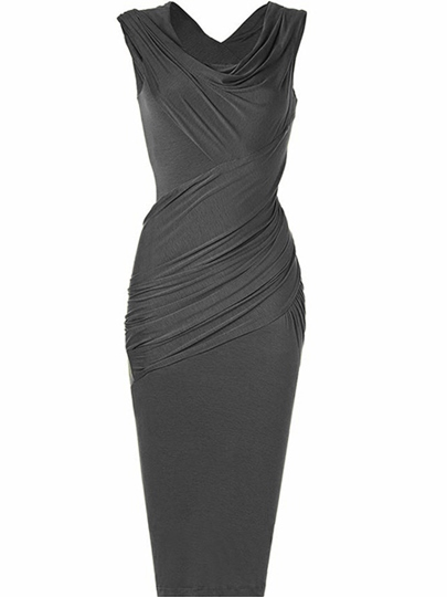 Solid Color Ruffle Women's Pencil Dress