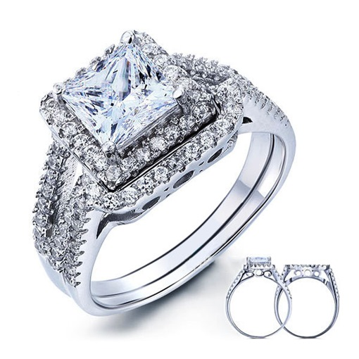 3 Carat Zircon Ring Set