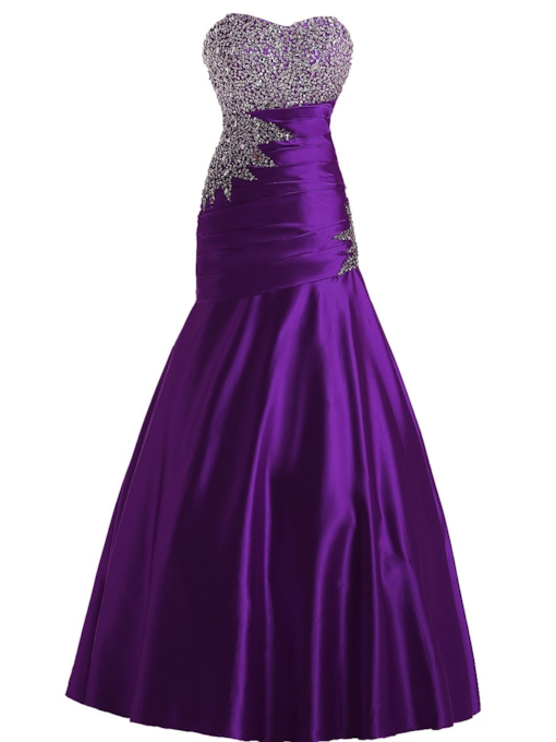 Sweetheart Beading Sequins Trumpet Evening Dress