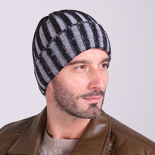 Double Color Stripe Hat For Man