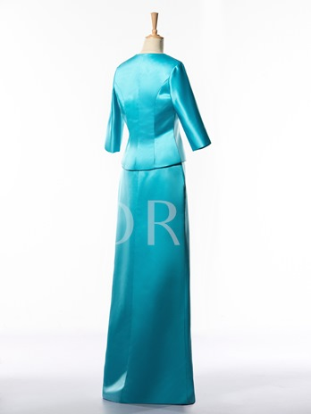 Beaded Column Mother of the Bride Dress with Jacket
