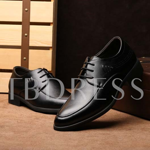 Square Heel Sequins Pointed Toe Lace-Up Front Men's Oxfords