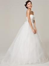 Sweetheart Ball Gown Bowknot Maternity Pregnant Wedding Dress