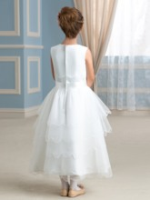 Tiered Tea-Length Flower Girl Dress