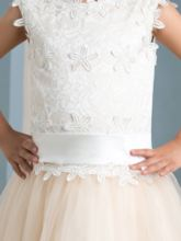 Appliques Ankle-Length Girl's Party Dress