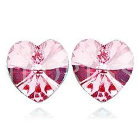 Ultra Violet Heart Diamond-Shaped Earrings