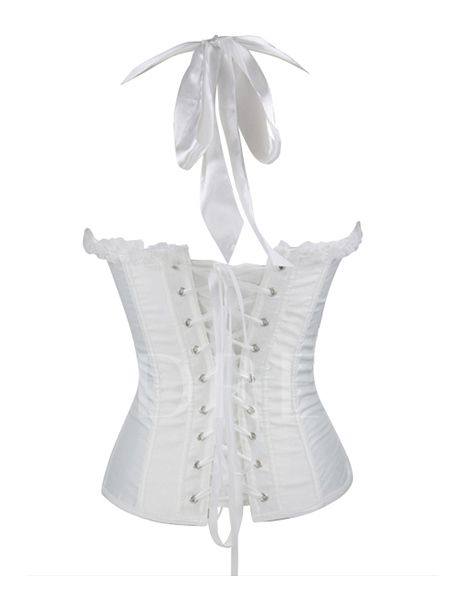 Halter Mesh Patchwork Bowknot String Women's Corset (Plus Size Available)