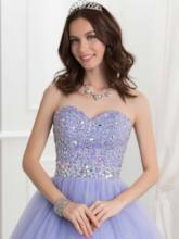 Sweetheart Beaded Floor-Length Ball Gown Quinceanera Dress