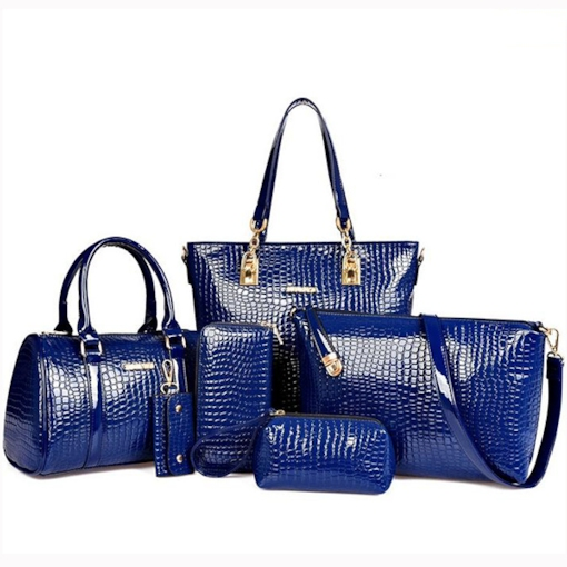 Elegant Alligator Grain PU Bag Set