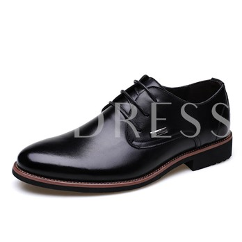 Round Toe Sequins Square Heel Cross Strap Men's Oxfords