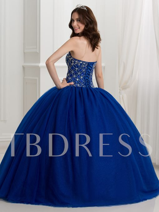 Sweetheart Beaded Ball Gown Quinceanera Dress With Jacket
