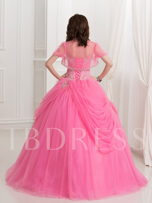 Beaded Sweetheart Lace-Up Ball Gown Quinceanera Dress With Jacket