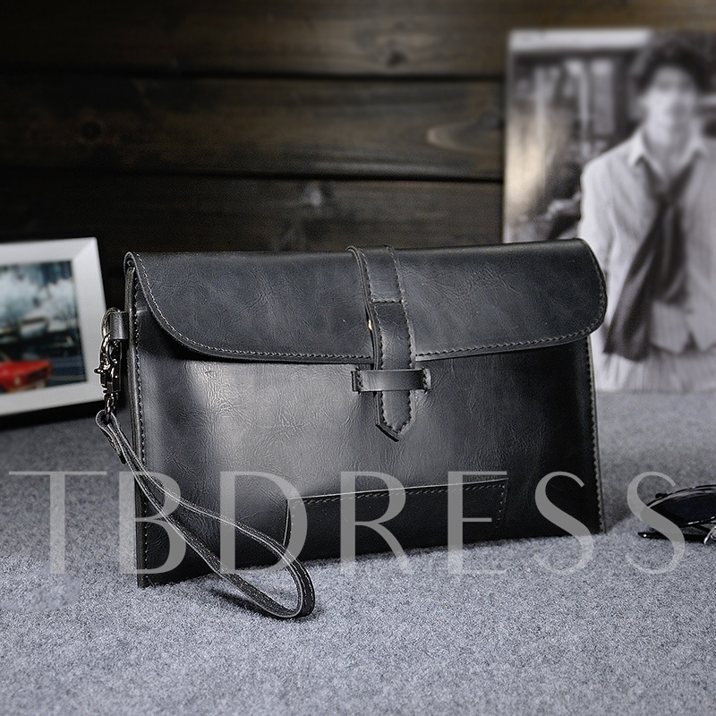 Fantasy Design Snap With Belt Men's Clutch Bag