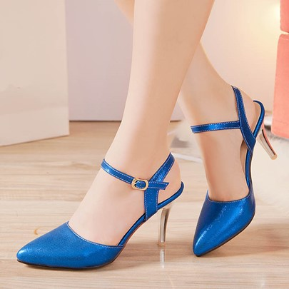 Closed Toe Plain Stiletto Heel Cheap Women's Formal Sandals