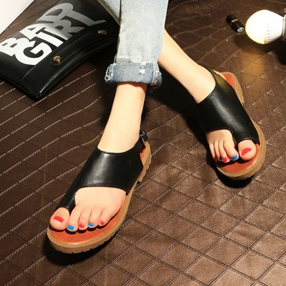 Toe Ring Flat Heel Flat Low Heel Women's Sandals