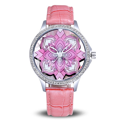 Hollow Out Stereoscopic Pattern Dial Fashion Watch