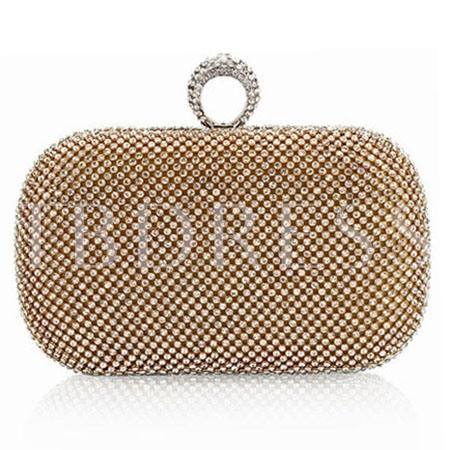 European Rhinestone Ring Women's Clutch Bag