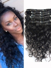 Afro Curly Human Hair 7 PCS Clip In Hair Extensions Virgin Hair