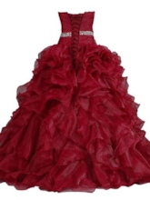 Strapless Pleats Beaded Long Ball Gown Dress