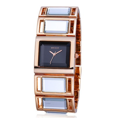 Square Metal Glass Watch