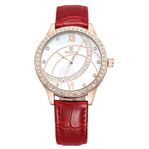 Roman Numeral Scale Red / Brown Watch