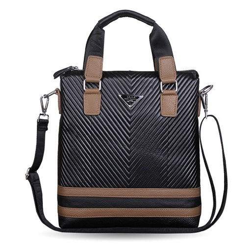Vertical Cross Stripe Occasion Men's Tote Bag / Cross Body